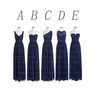navy blue bridesmaid dresses, long bridesmaid dresses ...