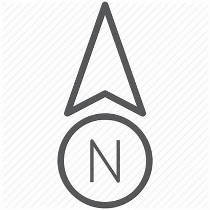 North Arrow Icon Direction Navigation