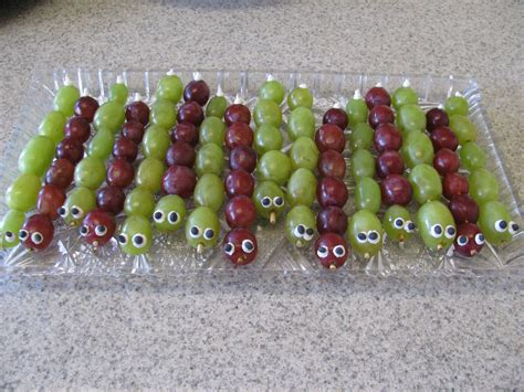 Caterpillar Grapes For Kids Bug Party Preston Birthday