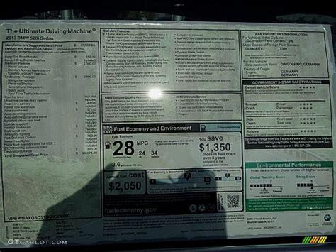 bmw  series  sedan window sticker photo