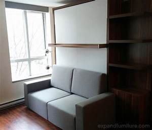 how small spaces work for rental income expand furniture With wall bed and sofa