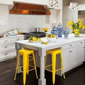 classic white kitchen pops of color decor cecy j With kitchen colors with white cabinets with pop art wall decor