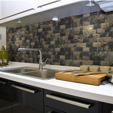 stick on backsplash for kitchen kitchen your kitchen look awesome by using peel and stick