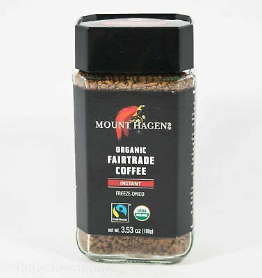 Made from organic, fairtrade, 100% arabica coffee beans, mount hagen is shade grown at higher elevations which produces a naturally flavorful, yet mild taste. 1 Mount Hagen Organic Fairtrade Coffee Instant 3.53 oz 05/04/2023 819385023319 | eBay
