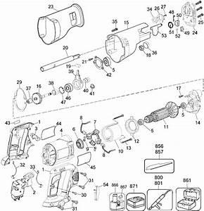 Dewalt Dw938 18v Cordless Reciprocating Saw Parts  Type 2