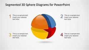 3d Segmented Sphere Four Quadrants Slide Design Slidemodel