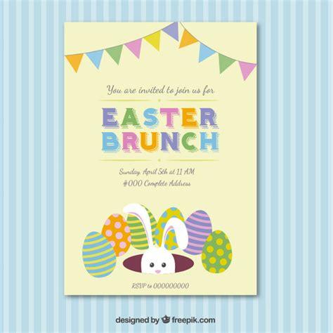 tarjeta de invitaci 243 n de desayuno almuerzo de pascua descargar vectores gratis