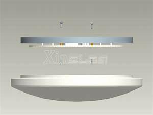 Diy round led ceiling light fixture inside panel