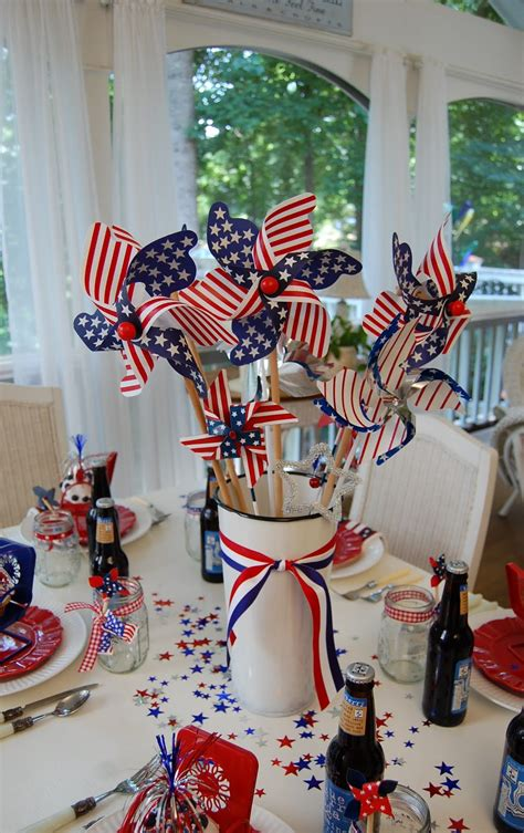 4th of july table centerpieces a patriotic celebration table setting