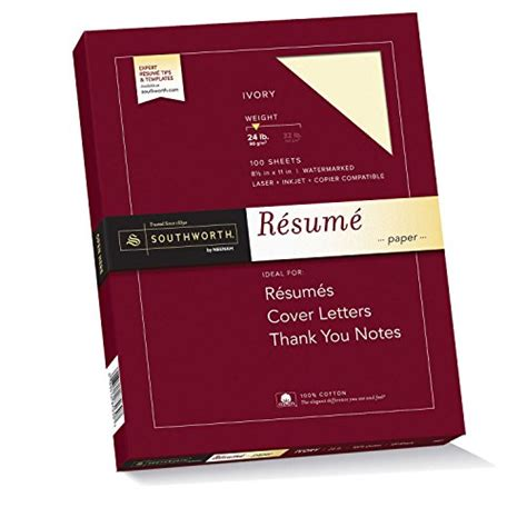 Southworth Exceptional Resume Paper by Southworth Exceptional Resume Paper 100 Cotton 24 Lb