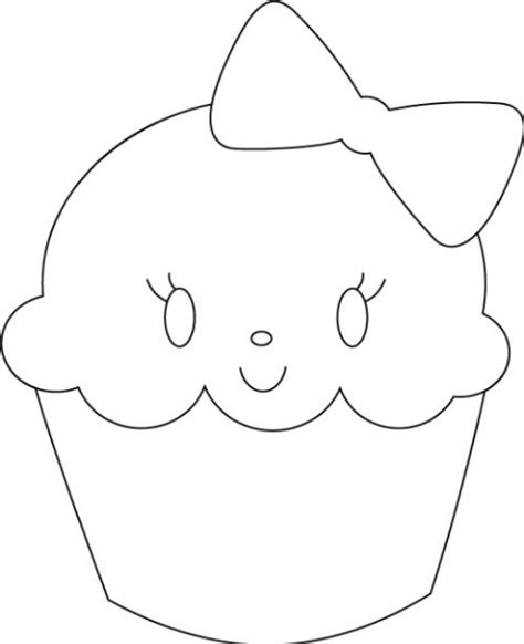 i who has template best cupcake outline 8273 clipartion