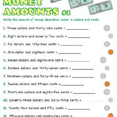 writing money amounts education