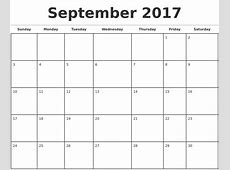 2017 Monthly Calendar Template calendar template excel