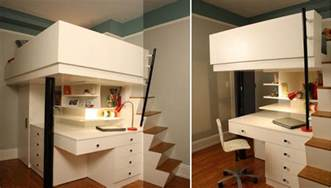 small kitchen layout with island mixing work with pleasure loft beds with desks underneath