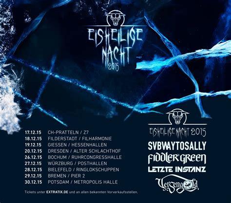 Die Drei Eisheiligen 2015 by Eisheilige Nacht 2015 Tourdaten Ver 246 Ffentlicht