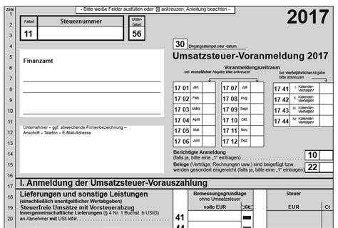 umsatzsteuervoranmeldung formular  elster jetzt