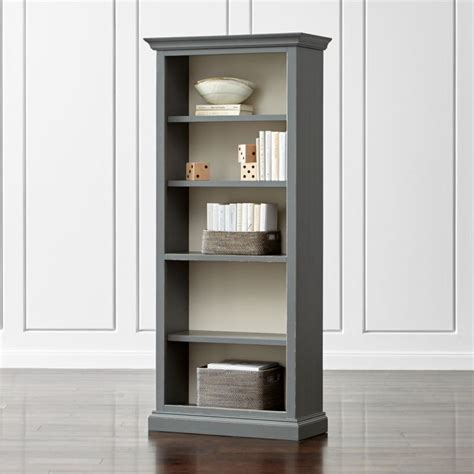 cameo grey open bookcase reviews crate  barrel