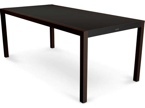 rectangular patio dining table polywood mod aluminum rectangular patio dining table 8320