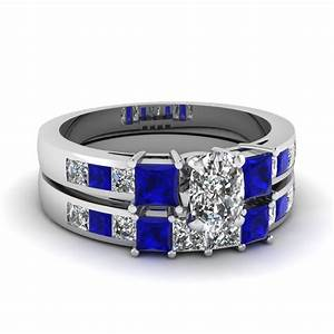 fascinating diamonds With blue wedding ring sets