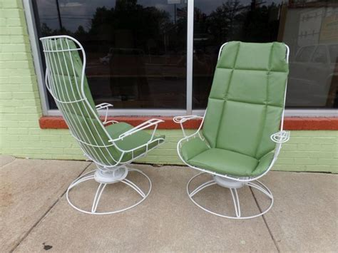 pair of mid century modern patio loungers by homecrest