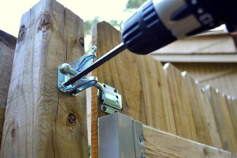 installing  gate latch ugly duckling house