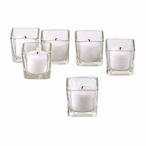 light in the dark clear glass square votive candle holders With kitchen colors with white cabinets with candle votive holder