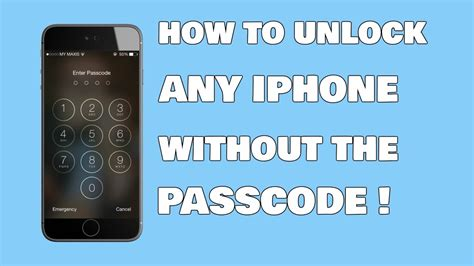 how to an iphone passcode how to unlock any iphone without the passcode