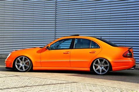 orange mercedes mercedes benz w211 e55 amg orange matte benztuning