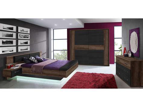 conforama chambre adulte lit 160x200 cm 2 chevets suspendus led dolce cottage vente de lit adulte conforama