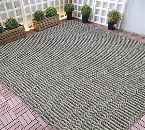 hr indoor outdoor area rugs 8x10 striped pattern gray