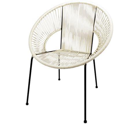 chaise fil plastique chaise de jardin ipanema fil blanc 89 salon d 39 été