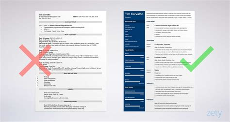 college resume template  high school students