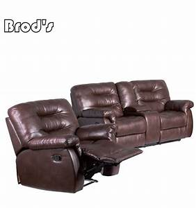 Sofa furniture with cup holder recliner sofa leather for Leather sectional recliner sofa with cup holders