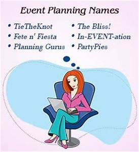 100 creative and prime name ideas for an event planning With wedding planning business name ideas