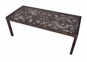 Plateau De Table : table basse plateau de verre demeure et jardin ~ Teatrodelosmanantiales.com Idées de Décoration