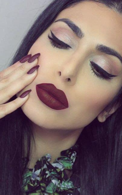 maroon matte lipstick  matte nail polish hot makeup trends pinterest matte nail polish