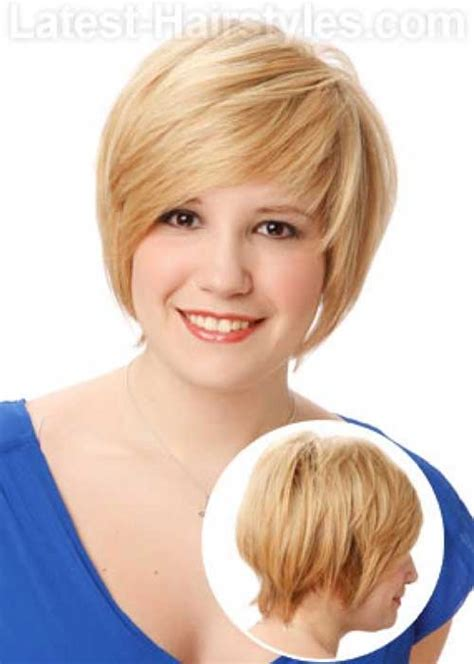 short haircuts  chubby faces short hairstyles
