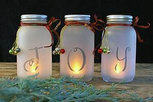 DIY Mason Jar Holiday Luminaria • The Budget Decorator