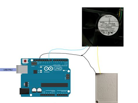 dc safe connection   pin fan   arduino