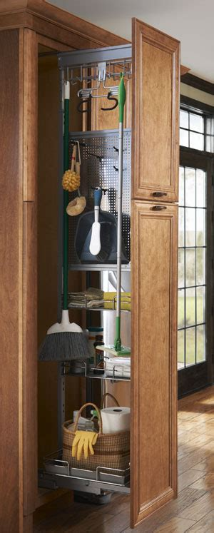broom closet cabinet lowes need ideas for modern kitchen one 16 ft stretch and one
