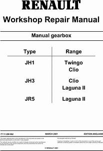 Renault Gearbox Twingo Clio Laguna Workshop Manual Jh1 Jh3