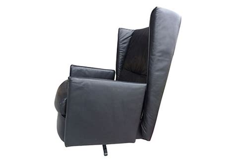 ligne roset swivel leather wingback desk chair