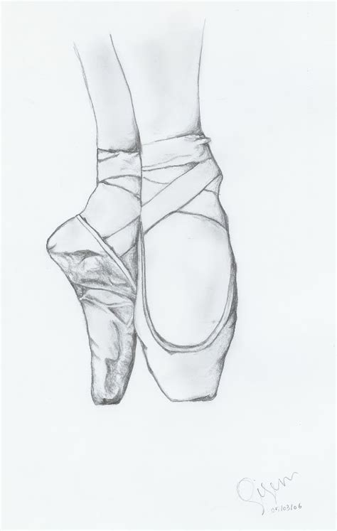 How to Draw Ballet Shoes Drawing