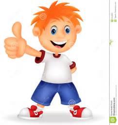 Little Boy Cartoon Thumbs Up