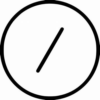 Icon Division Circle Symbol Shape Sign Dash