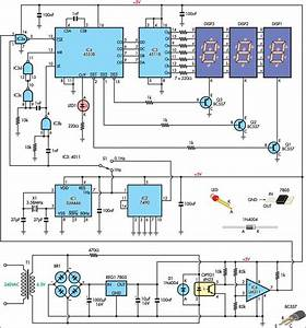 Mains Frequency Monitor Circuit Diagram