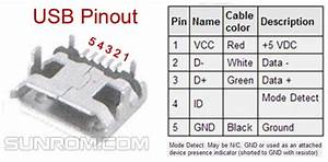 Microusb Connector With Through Hole Support Legs  4653    Sunrom Electronics  Technologies