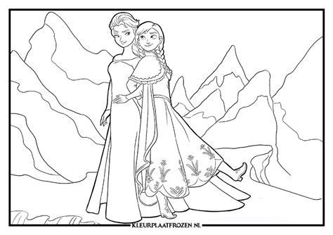 Kleurplaat Frozen Printen by Elsa Kleurplaat Uitprinten Op Kleurplaat Frozen