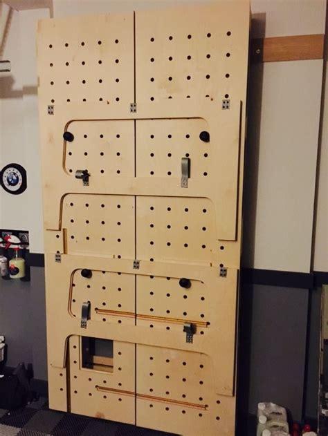 paulk workbench installed cleats  hang  wall