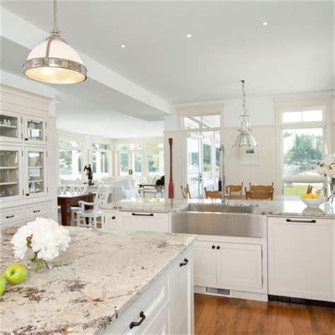 alaska white granite and behr white cabinets design